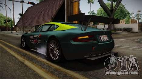 Aston Martin Racing DBR9 2005 v2.0.1 para las ruedas de GTA San Andreas