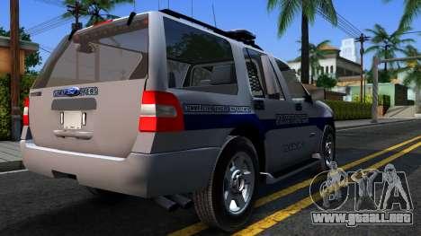 Ford Expedition SAST CVE 2008 para la visión correcta GTA San Andreas