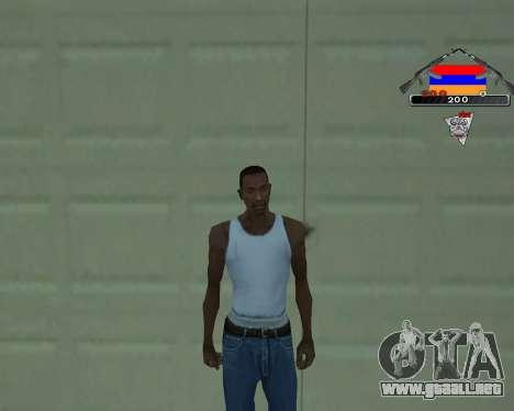 C-HUD Armenian V-1.0 para GTA San Andreas segunda pantalla