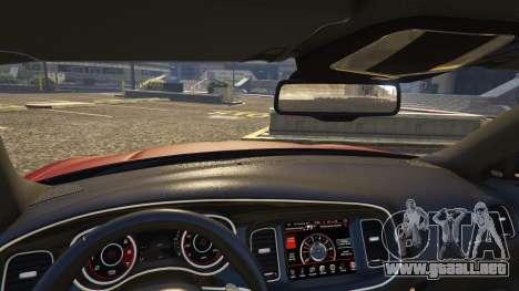GTA 5 Dodge Charger Hellcat vista lateral trasera derecha