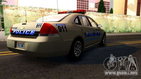 2007 Chevy Impala Bayside Police para visión interna GTA San Andreas
