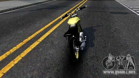 Honda Titan 150 Stunt para GTA San Andreas vista posterior izquierda