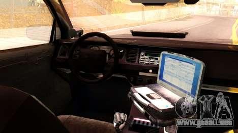 Ford Crown Victoria Detective 2008 para GTA San Andreas vista hacia atrás