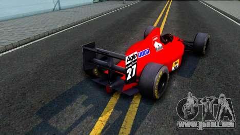 Ferrari 640 F1 1989 para la visión correcta GTA San Andreas