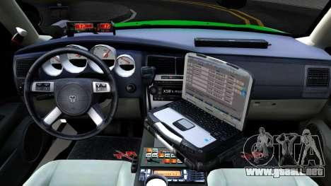 Dodge Charger German Police 2008 para visión interna GTA San Andreas