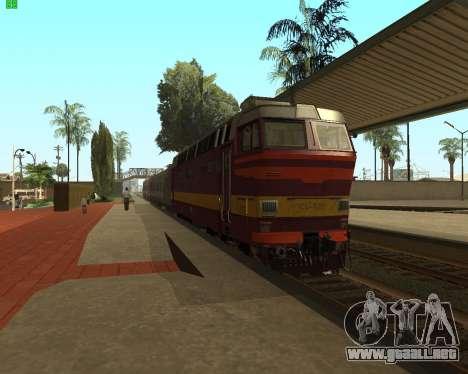 Locomotora de pasajeros CHS4t-521 para GTA San Andreas vista posterior izquierda