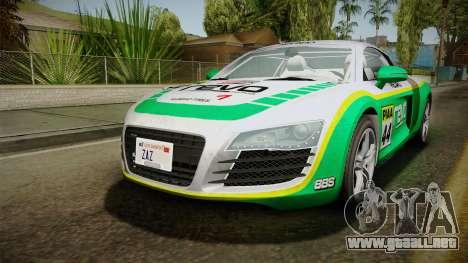 Audi R8 Coupe 4.2 FSI quattro EU-Spec 2008 Dirt para el motor de GTA San Andreas