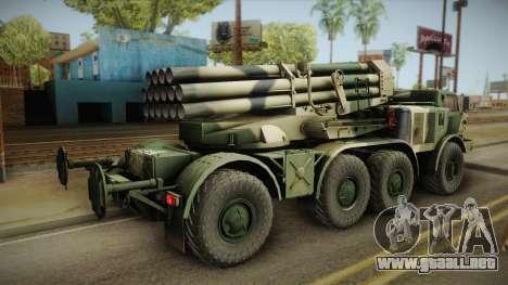 BM-27 Uragan (9P140) para GTA San Andreas left