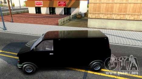 GTA V Declasse Burrito para GTA San Andreas left