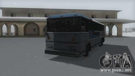 Bus Winter IVF para la visión correcta GTA San Andreas
