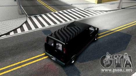 GTA V Declasse Burrito para visión interna GTA San Andreas