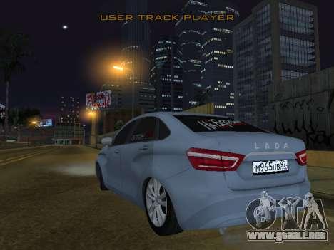 LADA Vesta BPAN para GTA San Andreas vista posterior izquierda