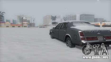 Washington Winter IVF para GTA San Andreas vista posterior izquierda