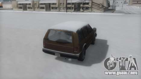 Landstalker Winter IVF para GTA San Andreas left