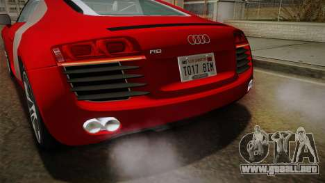 Audi R8 Coupe 4.2 FSI quattro EU-Spec 2008 YCH2 para GTA San Andreas interior