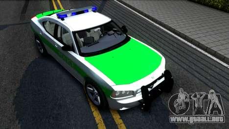 Dodge Charger German Police 2008 para la visión correcta GTA San Andreas