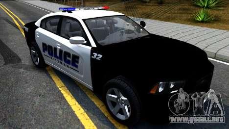 Dodge Charger Rittman Ohio Police 2013 para la visión correcta GTA San Andreas