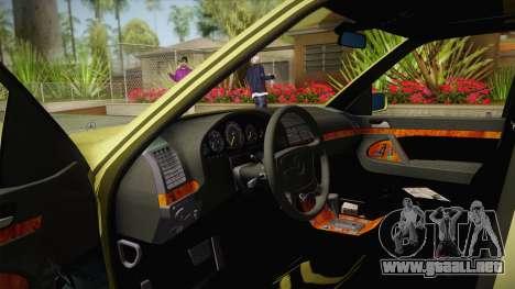 Mercedes-Benz 500SE 1991 v1.1 para visión interna GTA San Andreas