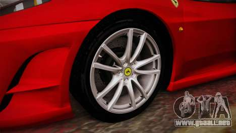 Ferrari F430 para GTA San Andreas vista hacia atrás