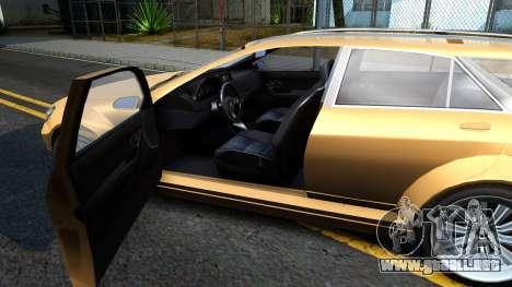 GTA V Benefactor Schafter Wagon para visión interna GTA San Andreas