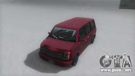 Moonbeam Winter IVF para GTA San Andreas vista posterior izquierda