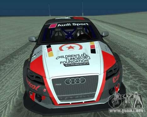 Audi RS3 Sportback Rally WRC para visión interna GTA San Andreas