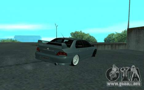 Mitsubishi Lancer Evolution VII para la vista superior GTA San Andreas