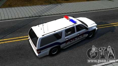 Declasse Granger Metropolitan Police 2012 para la visión correcta GTA San Andreas