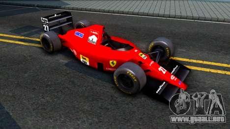 Ferrari 640 F1 1989 para GTA San Andreas left