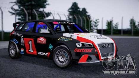 Audi RS3 Sportback Rally WRC para GTA San Andreas