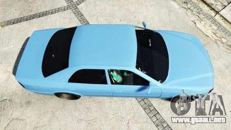 GTA 5 Toyota Chaser (JZX100) v1.1 [add-on] vista trasera