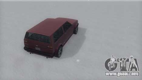 Club Winter IVF para GTA San Andreas vista posterior izquierda