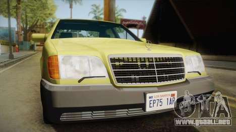 Mercedes-Benz 500SE 1991 v1.1 para la visión correcta GTA San Andreas