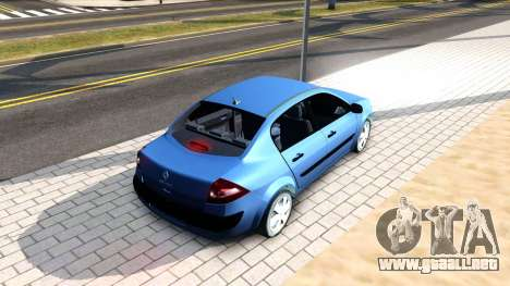 Renault Megane Sedan para GTA San Andreas vista posterior izquierda
