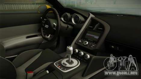 Audi R8 Coupe 4.2 FSI quattro EU-Spec 2008 Dirt para visión interna GTA San Andreas