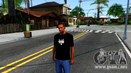 T-Shirt Watch Dogs 2 para GTA San Andreas