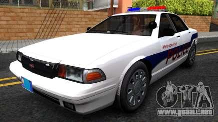 Vapid Stanier Metropolitan Police 2009 para GTA San Andreas