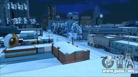 Nuevo invierno mod para GTA San Andreas quinta pantalla