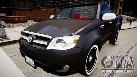 Toyota Hilux 2010 2 doors para GTA 4 visión correcta