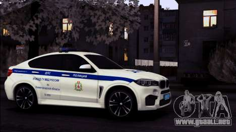 BMW X6M 2015 Russian Police para GTA San Andreas left