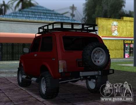 Niva 2121 4x4 Offroad para GTA San Andreas vista posterior izquierda