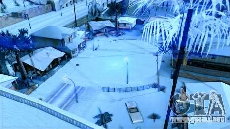 Nuevo invierno mod para GTA San Andreas séptima pantalla