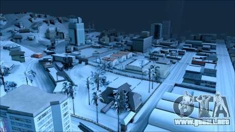 Nuevo invierno mod para GTA San Andreas sucesivamente de pantalla