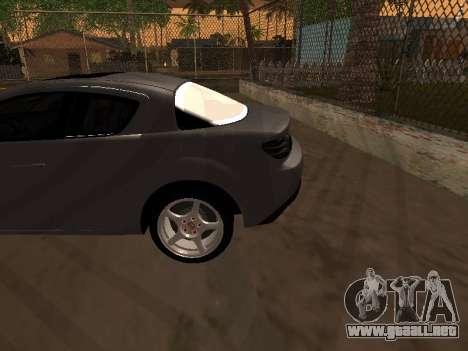 Mazda RX-8 para vista inferior GTA San Andreas