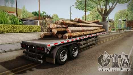 GTA 5 Log Trailer v2 IVF para GTA San Andreas left
