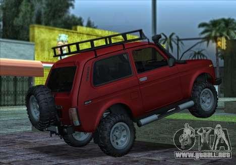 Niva 2121 4x4 Offroad para la visión correcta GTA San Andreas