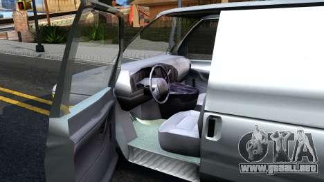 Ford E-150 v.2 para visión interna GTA San Andreas