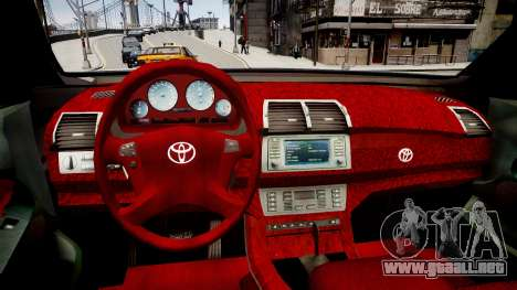 Toyota Hilux 2010 2 doors para GTA 4 vista interior