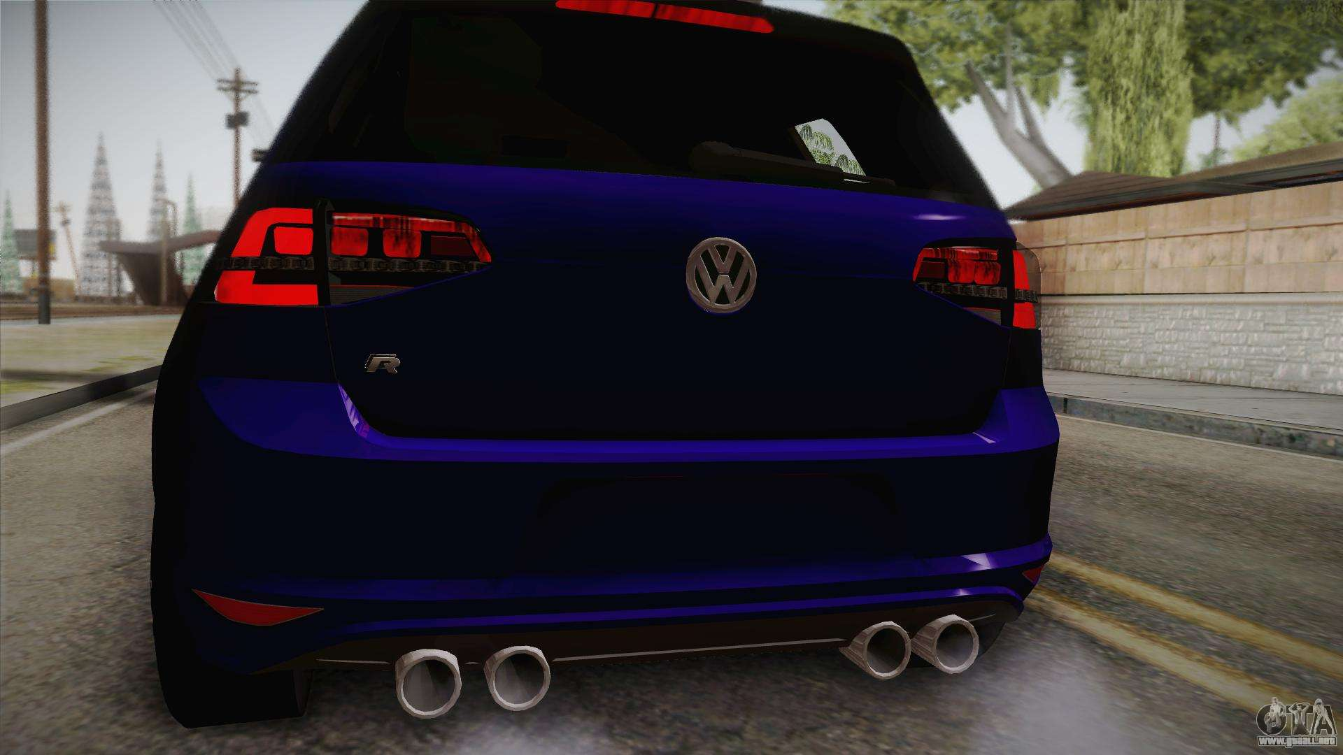 Volkswagen Golf 7r 2015 Beta V100 Para Gta San Andreas
