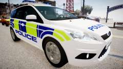 Ford Focus Estate '09 police UK para GTA 4